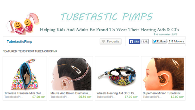Tubetastic Pimps, Hearing Aid and Cochlear Implant Decorations