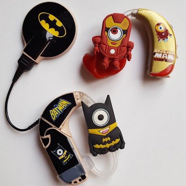 My Lugs Superhero Hearing Aid Decorations