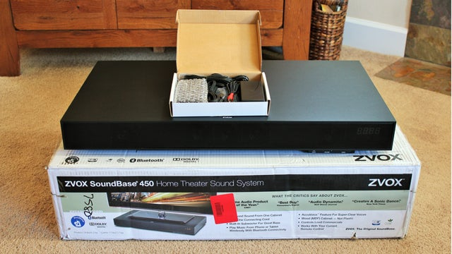 ZVOX AccuVoice SoundBase 450 unboxing.
