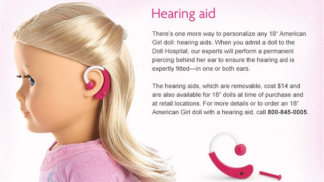 American Girl Doll with Hearing Aids