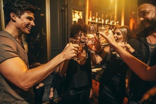 Loud club alcohol