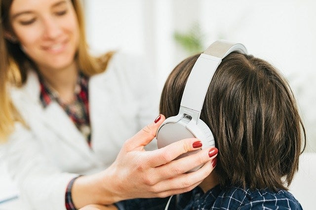 Child's hearing test