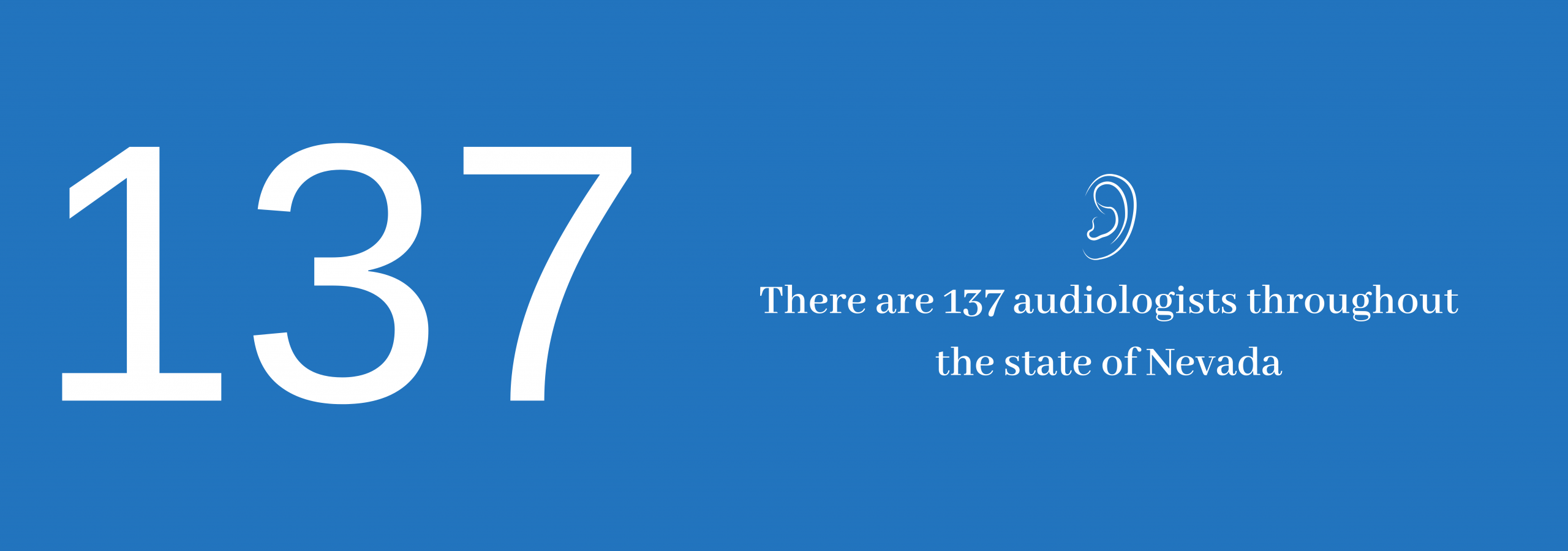 137 audiologists in the state of Nevada