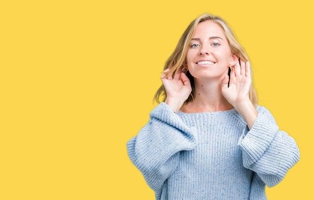 Hearing Aid Woman